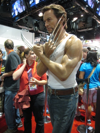 Many stopped to admire the overall hunkiness of this Wolverine statue.