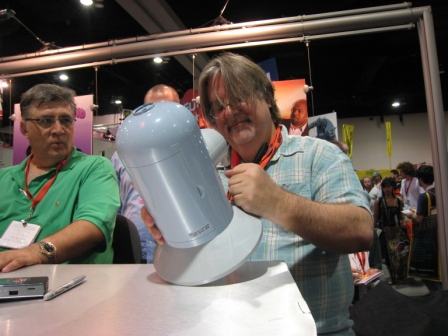 Matt Groening stares at Bender like God staring at his most beautiful creation.