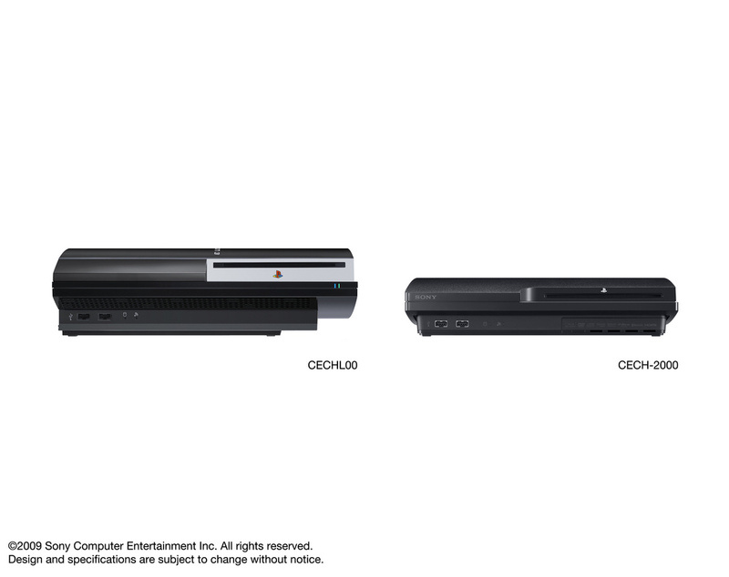 PS3 Fat and PS3 Slim comparison.